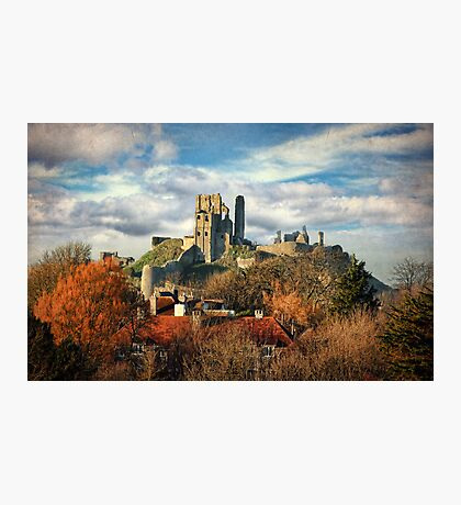 Autumn at Corfe Photographic Print