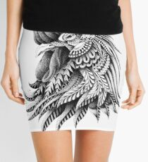 Ornately Decorated Rooster Mini Skirt