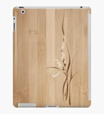 Intricate orchid flowers artistic floral design on wooden background art print iPad Case/Skin