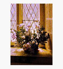 Textured Flowers Photographic Print