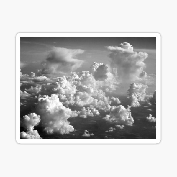 High in the Sky the Clouds Fly Sticker
