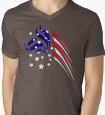 Fancy Flag Mens V-Neck T-Shirt