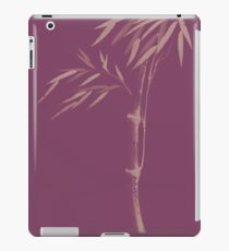 Illustration of a bamboo stalk with leaves Japanese Zen Sumi-e artwork in violet purple colors art print iPad Case/Skin