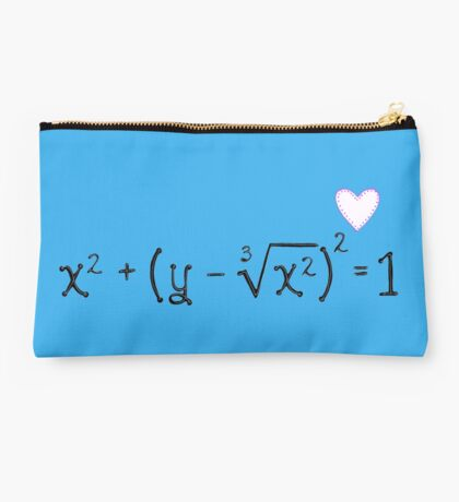 Math heart (blue) Studio Pouch