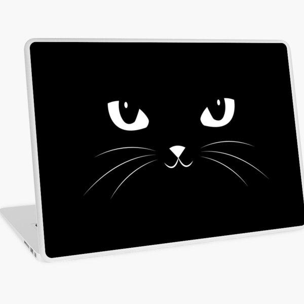 Cute Black Cat Laptop Skin
