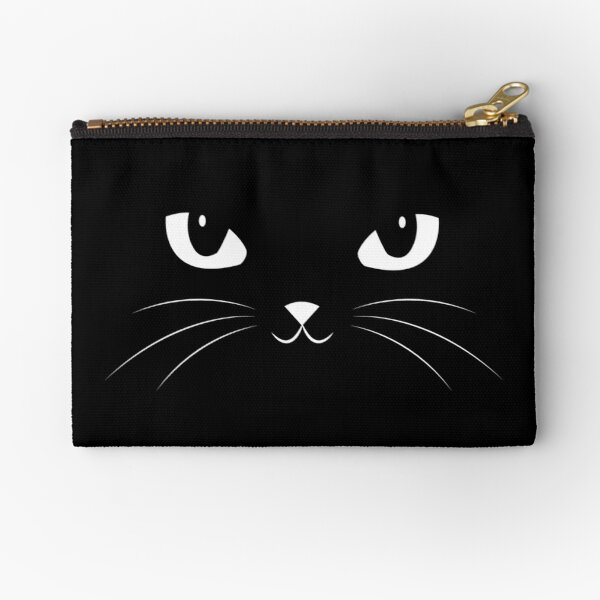 Cute Black Cat Zipper Pouch