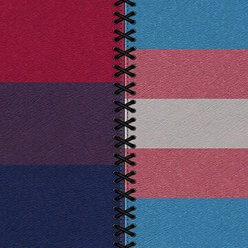 Bisexual Transgender Leather Flag by LiveLoudGraphic