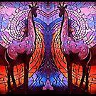 Purple Giraffes by DesJardins