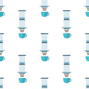 aeropress coffee maker seamless pattern by zizimentos