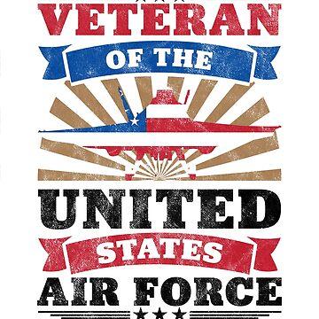 Veteran Shirt Veteran Of The United States Air Force T-Shirt by arnaldog