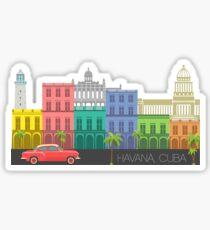 Havana, Cuba Landmark Sticker Sticker