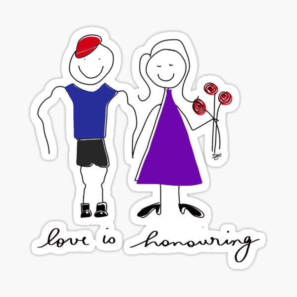 Love is Honouring Sticker