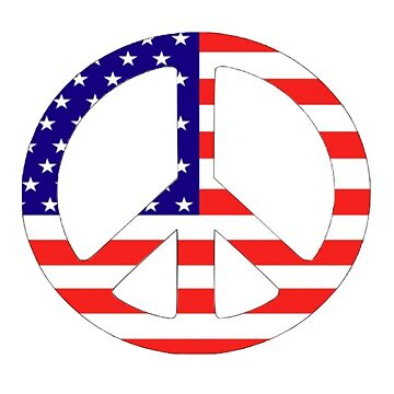 American Flag Peace Symbol by parakeetart