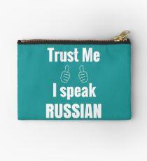 Awesome Russian Shirt Gift For Men Women Studio Pouch
