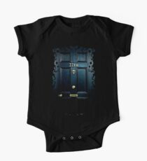 Haunted Blue Door with 221b number Kids Clothes