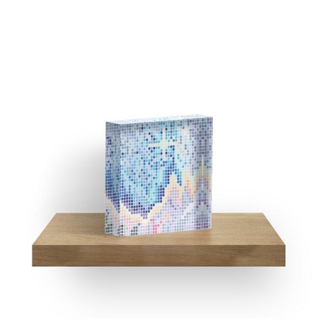 Pixelated Nebula Blue by Jemma Bannocks