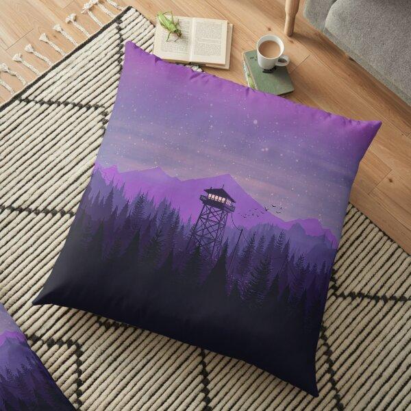 Firewatch Nighttime Art Design - 4k Floor Pillow