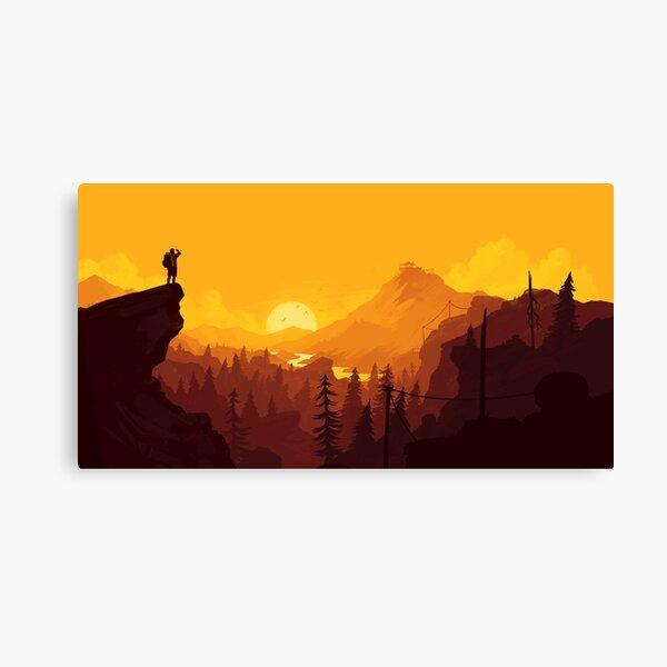 Firewatch Art Design - 4k Lienzo