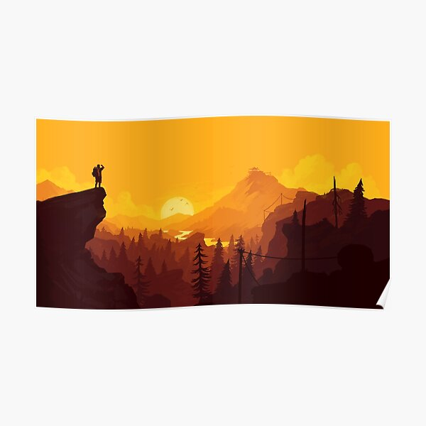Firewatch Art Design - 4k Póster