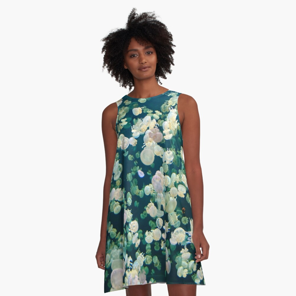 Jellyfish Bloom A-Line Dress Front