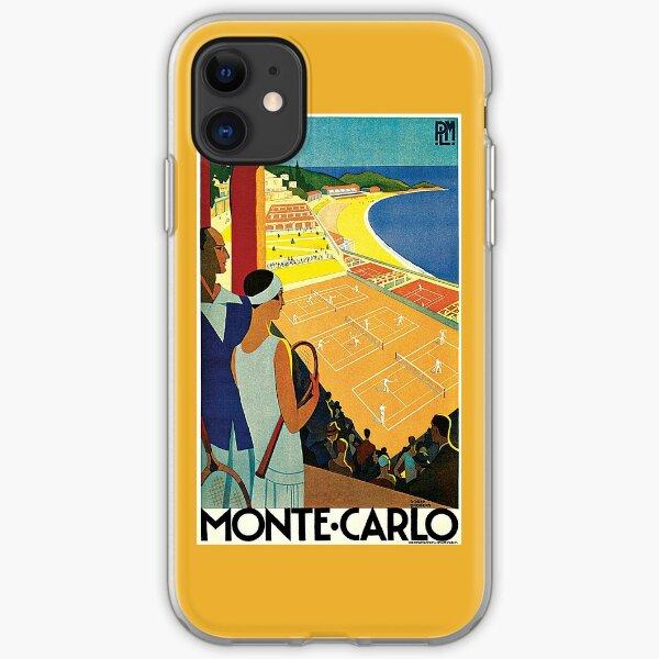 1920s Vintage Monte Carlo Tennis Travel Ad  iPhone Soft Case