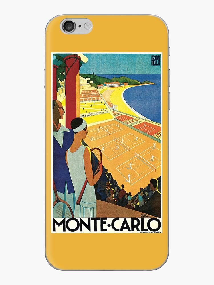 1920er Jahre Vintage Monte Carlo Tennis Reiseanzeige von aapshop