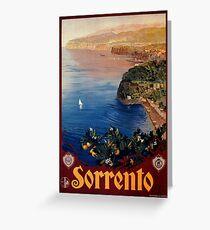 Italy Sorrento Bay of Naples vintage Italian travel advert Greeting Card
