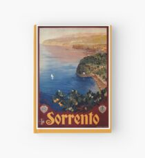 Italien Sorrento-Bucht von Neapel-Weinlese italienische Reiseanzeige Notizbuch