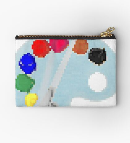 Painter Palette # 7 by RootCat Studio Pouch