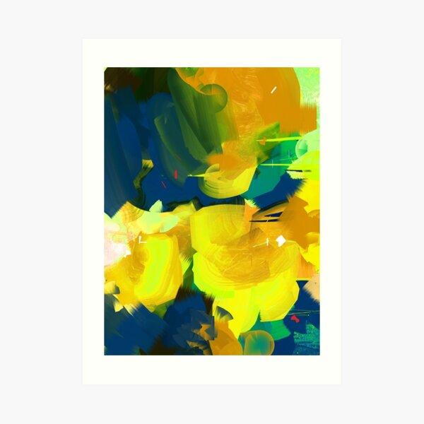 Summer #Abstract #Flowers Art Print