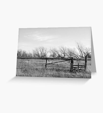 Gate in Kansas Field Greeting Card