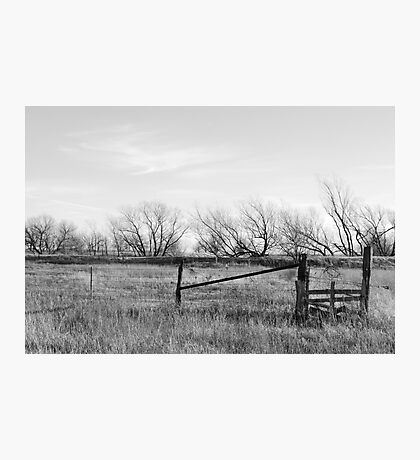 Gate in Kansas Field Photographic Print