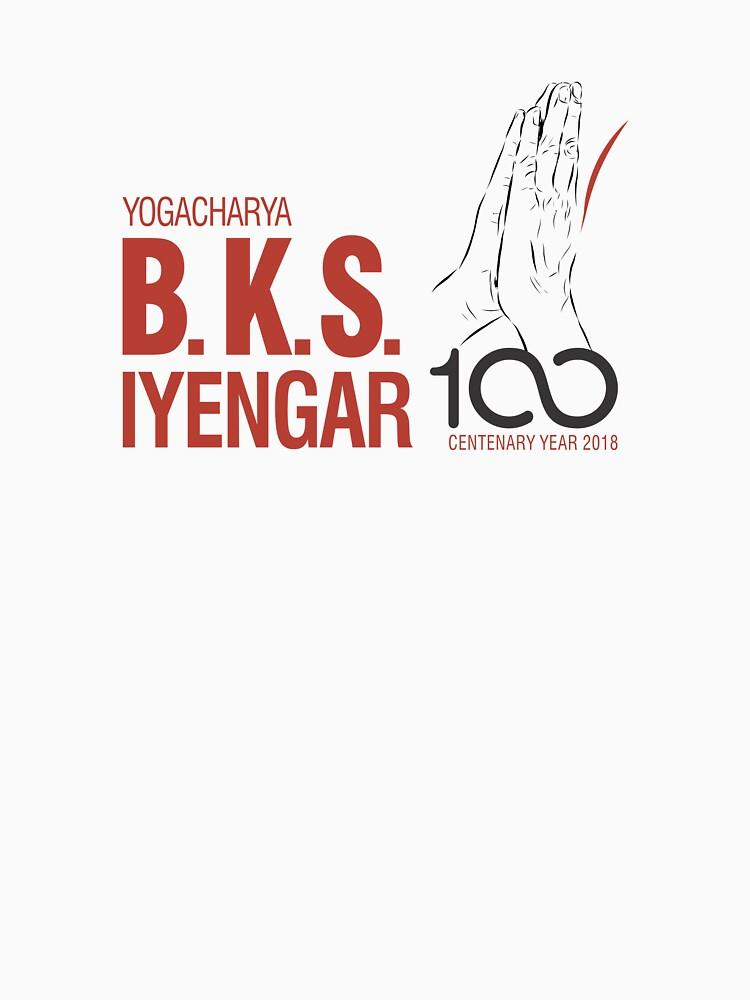 BKS Iyengar Official Centenary Year Logo - charity design by iyengaryogauk