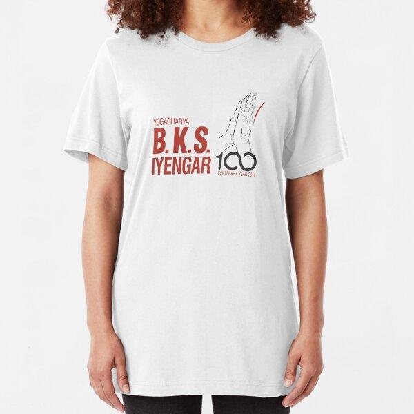 BKS Iyengar Official Centenary Year Logo - charity design Slim Fit T-Shirt