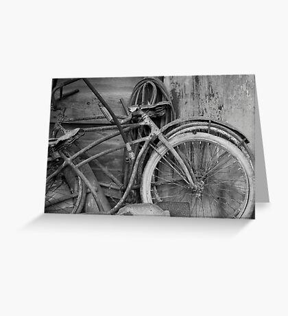 Vintage Bikes Greeting Card