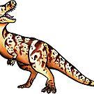 Cute Tyrannosaurus by DelythThomasArt