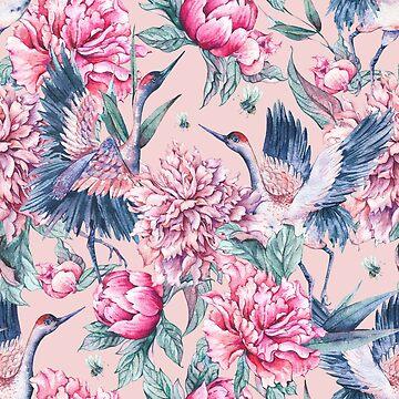 Pastel spring gardens by peggieprints