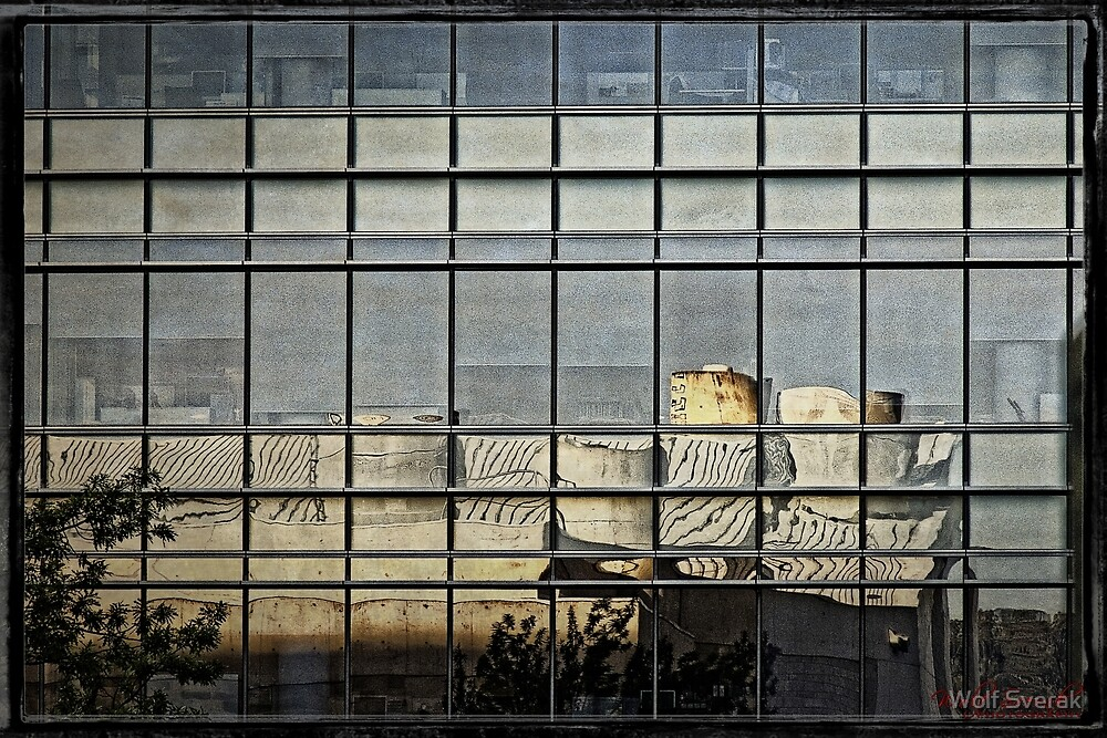 Reflection - in Canberra CBD by Wolf Sverak