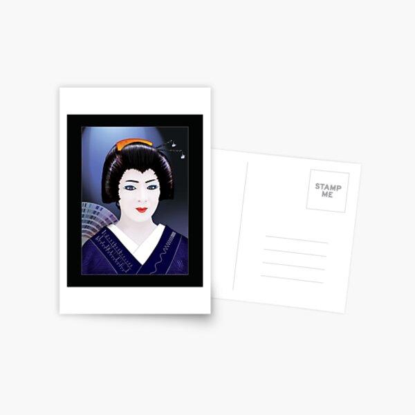 Geisha Color Postcard