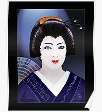 Geisha Color Poster