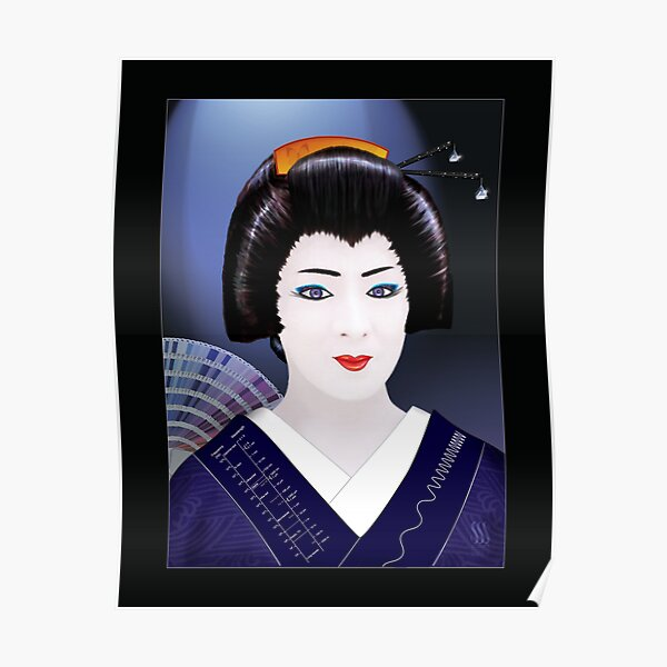 Geisha Color Poster