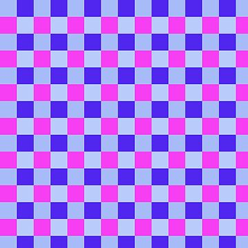 Blue Pink Plaid Design by Vitta
