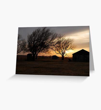 Kansas Sunset Greeting Card