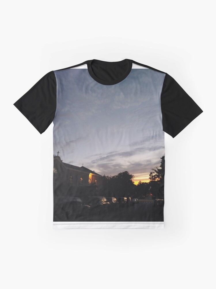Alternate view of Brooklyn, New York City, sunset, evening, #Brooklyn, #NewYorkCity, #sunset, #evening, #nature, #sky, #clouds Graphic T-Shirt