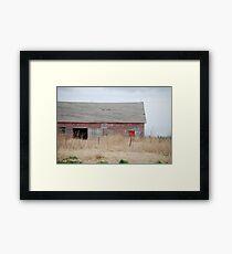 Rare Red Barn in Kansas Framed Print