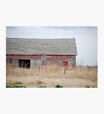 Rare Red Barn in Kansas Photographic Print