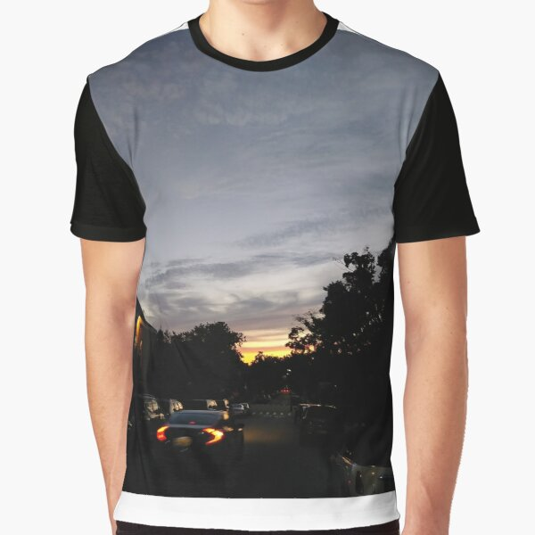 Brooklyn, New York City, sunset, evening, #Brooklyn, #NewYorkCity, #sunset, #evening, #nature, #sky, #clouds Graphic T-Shirt