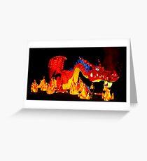 Chinesischer Drache - Chinesische Laterne Grußkarte