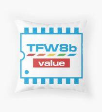 The Future Was 8 Bit Value Range Logo Throw Pillow
