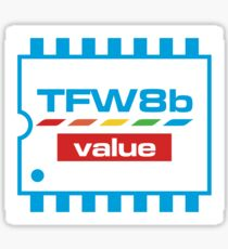 The Future Was 8 Bit Value Range Logo Sticker